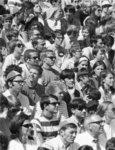 Waterloo Lutheran University fans at Seagram Stadium