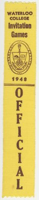 Official ribbon, 1948 Waterloo College Invitation Games