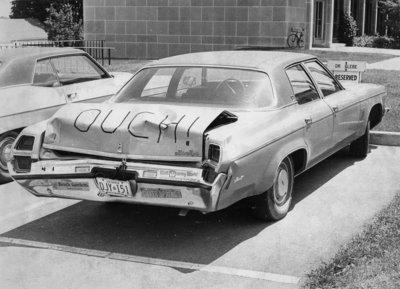 Car parked at Waterloo Lutheran Seminary