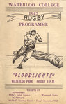 Waterloo College Rugby 1947 programme