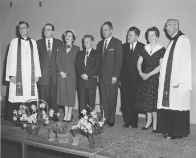 F.W. Zinck and A. A. Zink at the Evangelical Lutheran Church of Our Savior, Lachine, Quebec