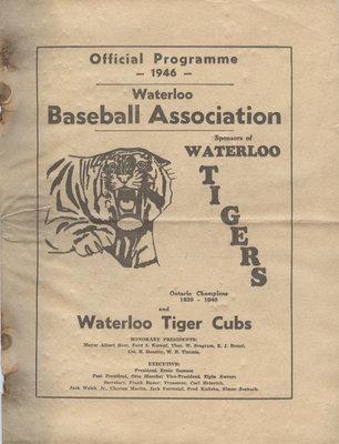 Waterloo Baseball Association : official programme 1946