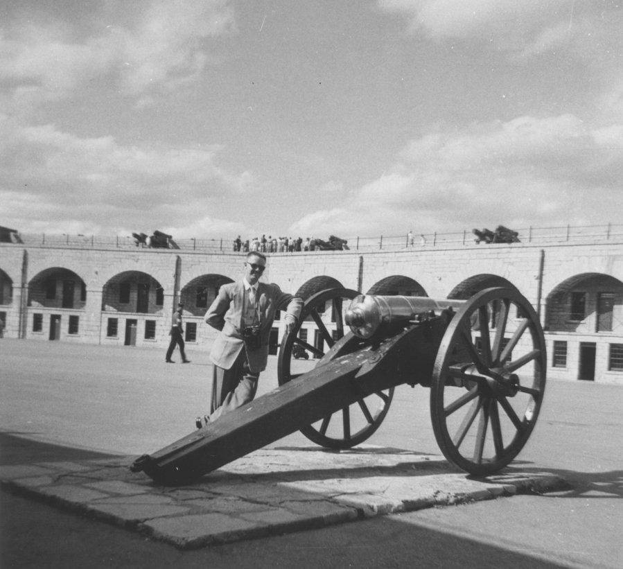 Waterloo College student Fred Dahms at Fort Henry