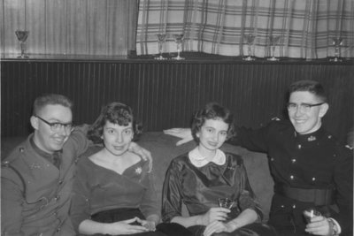 Waterloo College Canadian Officers' Training Corps ball, 1957