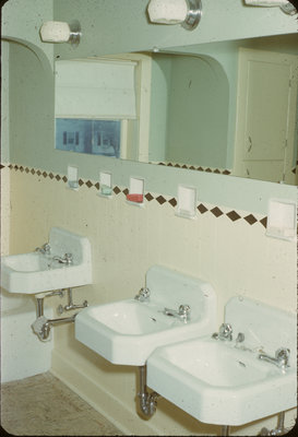Bathroom in Conrad Hall, Waterloo College