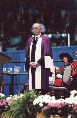 Frank Turner at Wilfrid Laurier University fall convocation 2001