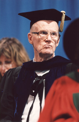 Welf Heick at Wilfrid Laurier University fall convocation 2001