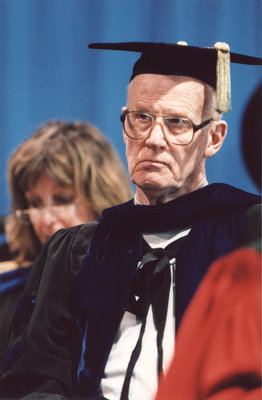 Welf Heick at fall convocation 2001, Wilfrid Laurier University