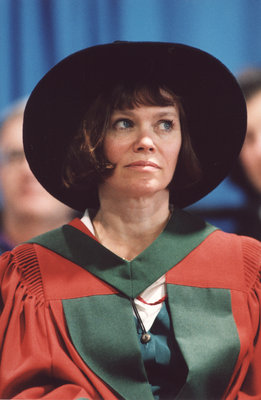 Kathleen Cameron at Wilfrid Laurier University fall convocation 2001