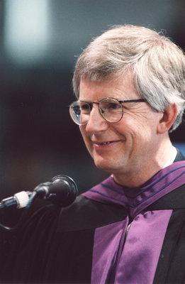Mark Baetz at Wilfrid Laurier University fall convocation 2001