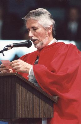 Richard Walsh-Bowers at Wilfrid Laurier University fall convocation 2001