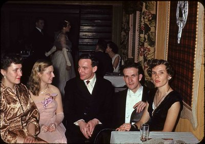 Five people at Waterloo College Junior Prom 1951