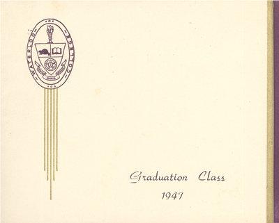 Waterloo College graduation dance invitation, 1947