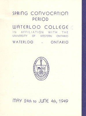 Waterloo College spring convocation period, 1949