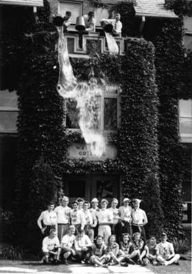 Water dumping prank, Waterloo College initiation week 1947