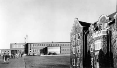 Composite image of Waterloo College Arts Building and Willison Hall