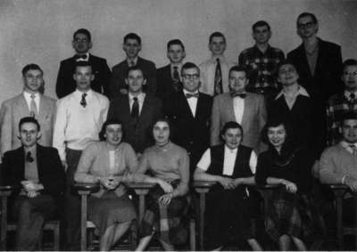 Waterloo College senior class 1952-53