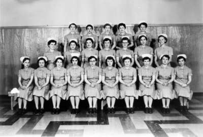 Nursing class, Waterloo College, 1954-55