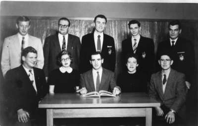 Waterloo College Newsweekly staff 1955-56