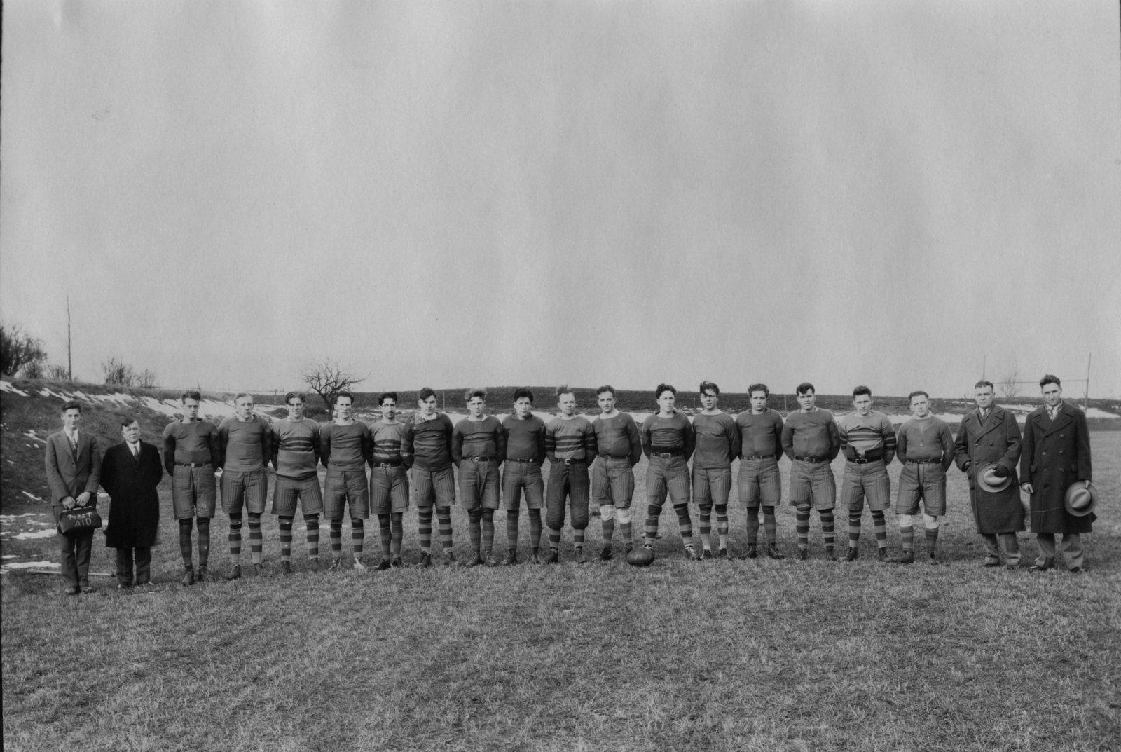 Waterloo College rugby team, 1930