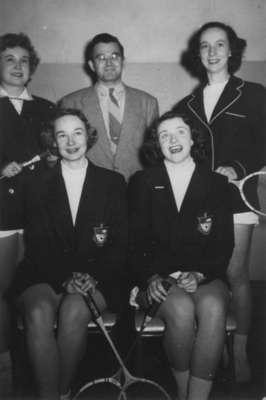 Waterloo College women's badminton team, 1951-52