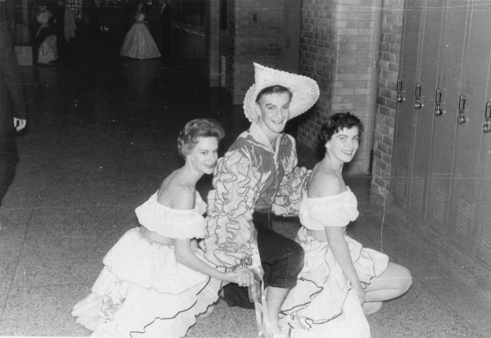 Three Purple and Gold Revue cast members, 1957