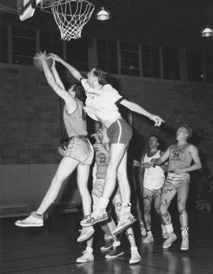 Waterloo College men's basketball game