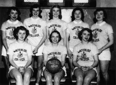 Waterloo College women's basketball team, 1952-53