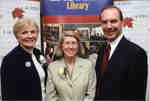 Judith Astley, Nancy Maitland, and Robert Astley at Wilfrid Laurier University Library donor event