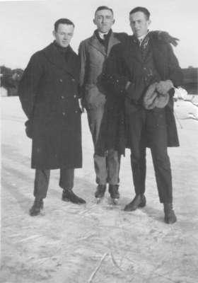 Three Waterloo College School students skating