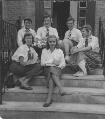 Six female Waterloo College freshmen