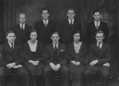 Waterloo College Athletic Directorate and Team Representatives, 1932-1933