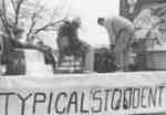 Waterloo College Homecoming Parade float, 1955