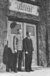 Roy Grosz and George Jacobs in front of Willison Hall