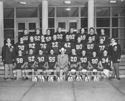 Waterloo College football team, 1954-55