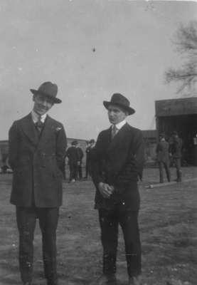 James Vorkoper standing with a man