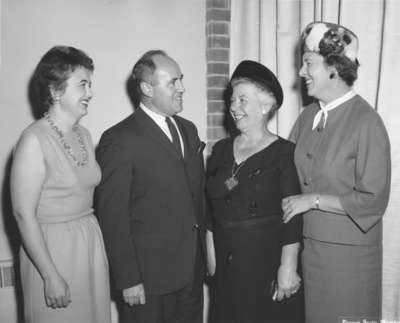 Arlette Pederson, John Wettlaufer, Ruth Gillespie and Dorothy Greb at the Women's Auxiliary annual dinner