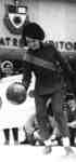 Kathi Burrows with basketball