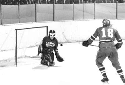 Waterloo Lutheran University hockey game