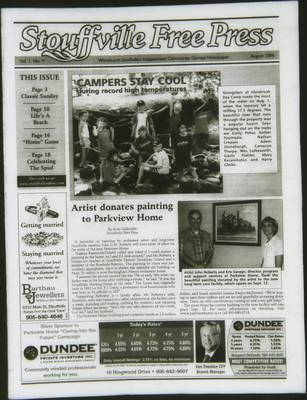 Stouffville Free Press (Stouffville Ontario: Stouffville Free Press Inc.), 1 Aug 2006