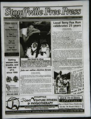 Stouffville Free Press (Stouffville Ontario: Stouffville Free Press Inc.), 1 Sep 2006