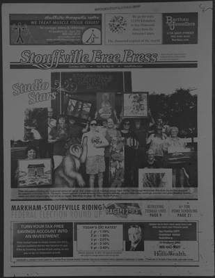 Stouffville Free Press (Stouffville Ontario: Stouffville Free Press Inc.), 1 Oct 2015