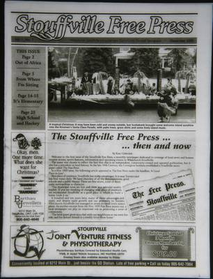 Stouffville Free Press (Stouffville Ontario: Stouffville Free Press Inc.), 1 Dec 2005
