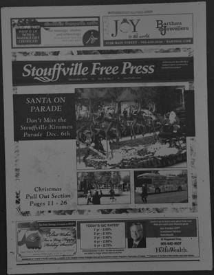 Stouffville Free Press (Stouffville Ontario: Stouffville Free Press Inc.), 1 Dec 2014