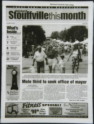 Whitchurch-Stouffville This Month (Stouffville Ontario: Star Marketing (1460912 Ontario Inc), 2001), 1 Jun 2003