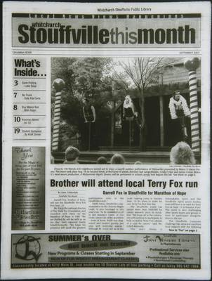 Whitchurch-Stouffville This Month (Stouffville Ontario: Star Marketing (1460912 Ontario Inc), 2001), 1 Sep 2003