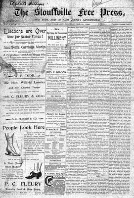 Stouffville Free Press (1896)