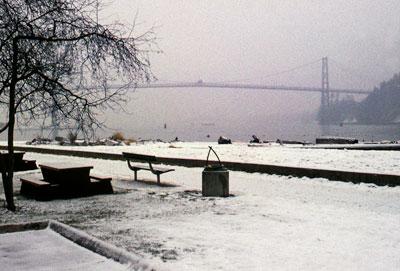 Lions Gate Bridge in Winter