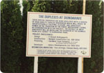 """""""The Duplexes at Dundarave"""" Sign"""