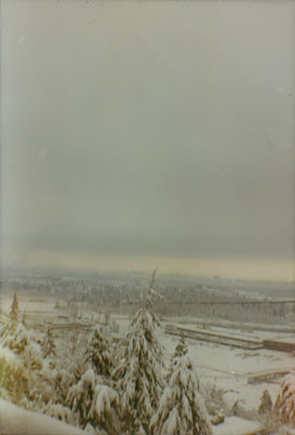 View from Sentinel Hill of Snow at Park Royal